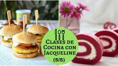 """Mini Hamburguesa De Bacalao Con Rollos De Remolacha (5/5) """"Clases De Cocina Con Jacqueline"""