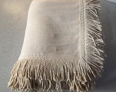 Crochet blanket stripes Giant knit blanket in pure Merino Wool Large sofa throws with fringes Striped Crochet Blanket, Giant Knit Blanket, Sofa Throw Cover, Couch Covers, Large Throws For Sofas, Custom Couches, Long Sofa, Fringe Fashion, Pet Furniture