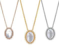 Lucky Eyes Oval mother of pearl and crystals necklace  Available in sterling silver, 18ct yellow gold vermeil on sterling silver or 18ct rose gold vermeil in sterling silver .  Length:16'' with  1.5'' chain extension  Comes in a beautiful Lucky Eyes Jewellery box