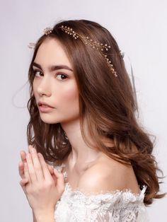 Утонченное украшение на голову Crystal Headband, Wedding Hair Accessories, Crown, Bridal, Crystals, Hair Styles, Beauty, Fashion, Hair Plait Styles