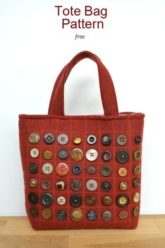 Create your own stylish button bag, step by step instruction for this cute tote…