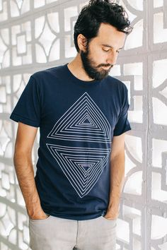 Mens tshirt. Graphic tee for men. Geometric by blackbirdtees