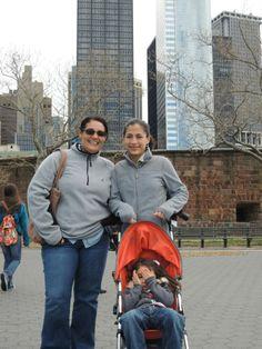 Con mi Nuera y mi Nieta en New York