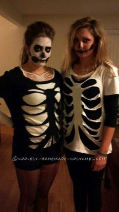 Last Minute Homemade Sister Skeletons Halloween Co - Last Minute Homemade Sister Skeletons Halloween Costumes... This website is the Pinterest of costumes Repinly Holidays & Events Popular Pins