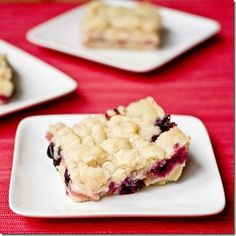 It's rhubarb season! Blueberry Rhubarb Bars
