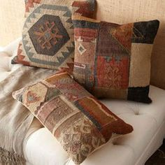 DENİZ HOME | Interior Design, Home Decor, Chic Houses, Style News & Celebrity Homes: Turkish Kilim Pillows in Home Decor