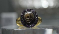 Spooky ring worn by Thomas Burwell at funeral of his uncle, physician Baldwin Hamey, 1676. Birmingham Museums