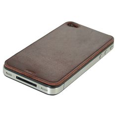 Burgundy leather iPhone 4/4s skin.   Product: iPhone 4/4s skinConstruction Material: LeatherColor: Bur...