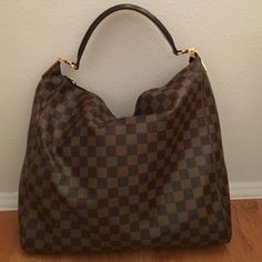 Louis Vuitton Portobello Damier Canvas Handbag