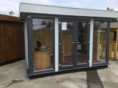 Ultra garden office on display at Rivendell Garden Centre Solid Sheds, Garden Sheds For Sale, Garden Centre, Garden Office, Wooden Garden, This Is Us, Windows, Display, Home