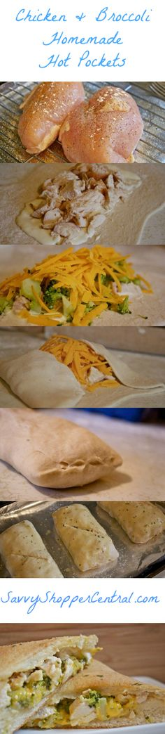 Homemade Chicken & Broccoli Hot Pockets