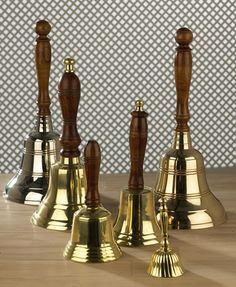 hand our small hand bells for people to ring as we exit the church