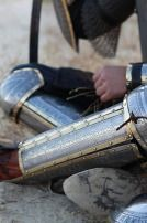 """Eastern Style Functional Medieval Greaves with Cops """"Prince of the East"""""""