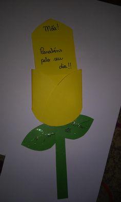 cartão tulipa