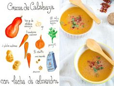 Crema de Calabaza con leche de almendra https://www.pinterest.com/source/gastroandalusi.com/