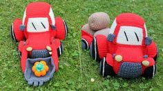Häkelanleitungen - Traktor/ Bagger Häkelanleitung - ein Designerstück von Masche-fuer-Masche bei DaWanda