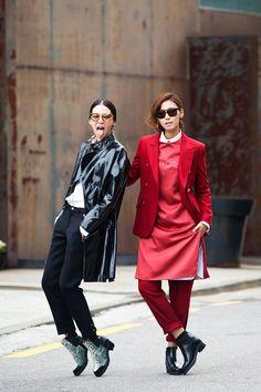 koreanmodel:  Streetstyle: Irene Kim and Park Seulki shot by Jimin Park