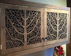 Beautiful big spice cabinet / spice rack for kitchen with amazing custom doors
