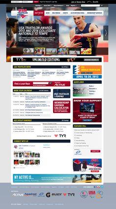 USA Triathlon Cycling Wear, Triathlon, Web Design, Usa, Sports, Hs Sports, Triathalon, Cycling Outfits, Sport