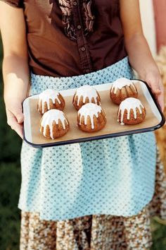 Apple-Cardamom Cakes with Apple Cider Icing: Your mouth will water when you smell the apple glaze drizzled on these teeny cakes.Get the recipe.