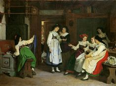 A Wedding in Lower Alsace 18__, Camille Alfred Pabst (1821-1898) Location: Musee d'Unterlinden, Colmar, France