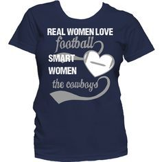 Real women love sports. Now you can show off your love for the Dallas Cowboys with this t-shirt. - 100% preshrunk cotton - double-needle stitching throughout - seamless collar - taped shoulder-to-shou