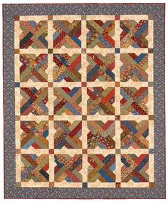 """scrap-basket sensation quilt, link to the quilting quiz """"what kind of quilter are you?"""" from the stitch this! blog on the shopmartingale site"""