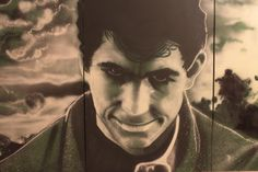 Bates Motel  spray on canvas 500 x 150