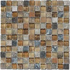 """Bella Glass Tiles Opulence 1"""" x 1"""" Mosaic Series OP24"""