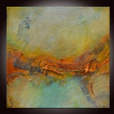 Abstract Painting, Large Abstract Painting, Textured Original Painting, Orange Red Painting by Andrada -36x36