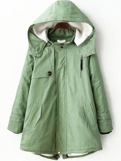 Hooded Zipper Slit Back Parka 38.33