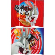 Looney Tunes Canvas Room Divider - RetroPlanet.com