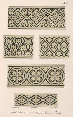 Mosaik-Bänder in der Markus-Kirche zu Venedig