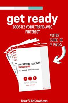 ÉPINGLER C'EST GAGNER ! Boostez votre trafic avec Pinterest - Votre kit de démarrage de 9 pages pour vous aider : À décider si Pinterest est compatible avec votre activité. Le marketing sur Pinterest, est-il un investissement judicieux pour vous ? À démarrer en 3 étapes simples ! Des conseils pratiques sur la création (ou conversion) d'un compte pro sur Pinterest. À vous lancer - Épinglez comme un pro en suivant 15 conseils pratiques pour démarrer sur Pinterest. #BornToBeSocial