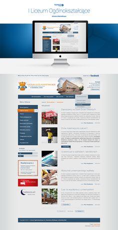 Projekt strony www dla I Liceum Ogólnokształcącego w Zduńskiej Woli