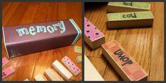 Classroom DIY: DIY Upcycled Jenga Memory Game  http://www.classroomdiy.com/2012/06/diy-upcycled-jenga-memory-game.html