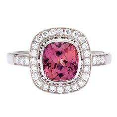 Purple orange sapphire