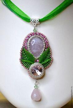 Купить Мастер-класс Розовый бутон - разноцветный, handmade jewelry, handmade, мастер-класс