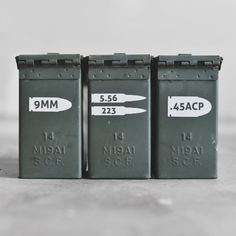 <b>No more writing on your ammo cans with permanent marker in your God awful handwriting! Use these Quick Recognition Ammo vinyls to label what caliber ammo you have filled inside. Ammo Storage, Hidden Gun Storage, Weapon Storage, Reloading Room, Gun Rooms, Ammo Cans, Airsoft Guns, Guns And Ammo, Tactical Gear