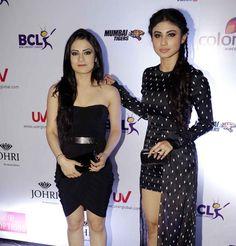 Radhika Madan and Mouni Roy at anthem launch of BCL team Mumbai Tigers. #Bollywood #Fashion #Style #Beauty #Hot #Sexy