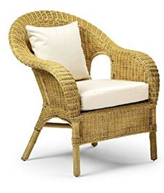 Cane Chair Jasper Occasional Wicker Chair Natural Home Life Direct Amazon Co