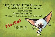 invite wording idea: Skippyjon Jones party Can I do this for my birthday? Birthday Party Themes, Birthday Invitations, Birthday Ideas, Skippyjon Jones, Movie Night For Kids, Friends Of The Library, Baby First Birthday, Animal Party, Teacher Appreciation