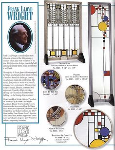 Frank Lloyd Wright Stained Glass Designs