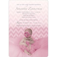 Chevron Beauty Studio Baby Shower Invitation | Storkie.com