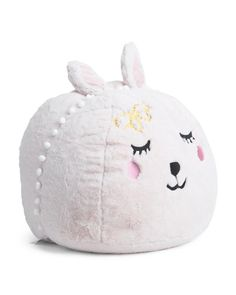 Love Bunny Kids Faux Fur Pouf Chair