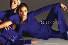 Anja Rubik and Karmen Pedaru star in Gucci's spring/summer 2013 ad campaign. Photographed by Mert & Marcus.