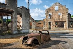 Oradour-sur-Glane, Haute-Vienne, central France  On 10 June 1944, 642 inhabitants of this village – men, women and children – were massacred by the Nazis. After the war President de Gaulle ordered that the village be maintained as a memorial to the massacre. Photograph: ABCDK/Depositphotos