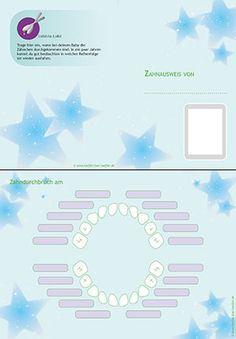 Babybrei - Zahnkalender / Zahnausweis