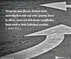 Nachzulesen auf BibleServer | 5. Mose 30,2-3