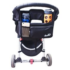 Amazon.com : Best Stroller Organizer & Strollers Bag - Insulated Cup Holder & Diaper Caddy For Baby Accessories - Lightweight & Durable Parent Console + Lots Of Storage Space - Perfect Baby Shower Gift : Baby